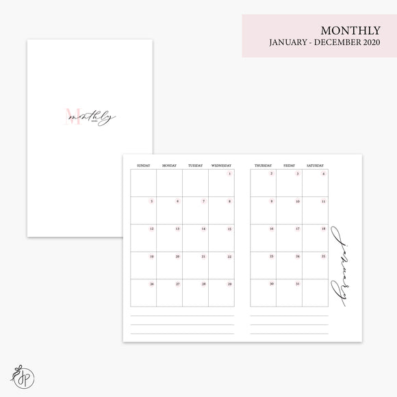Monthly 2020 Pink - Pocket TN