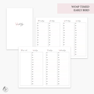 WO4P Timed Early Bird Pink - Pocket TN
