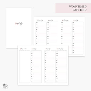 WO4P Timed Late Bird Pink - Pocket TN