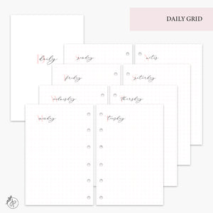 Daily Grid Pink - Pocket Rings