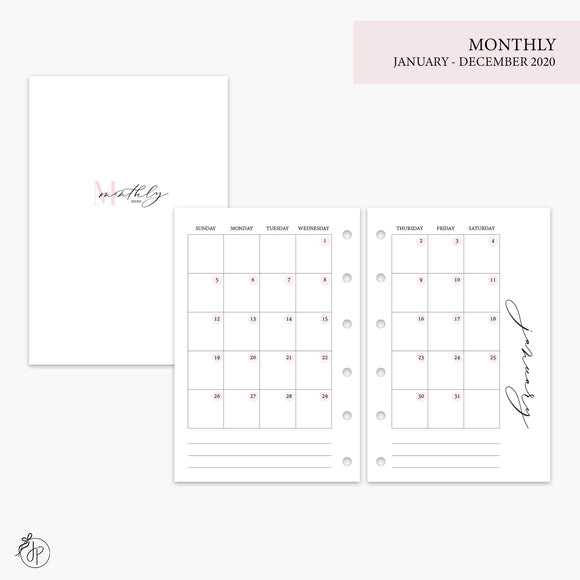 Monthly 2020 Pink - Pocket Rings