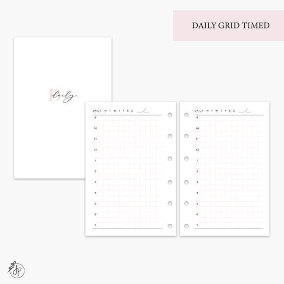 Daily Grid Timed Pink - Pocket Rings