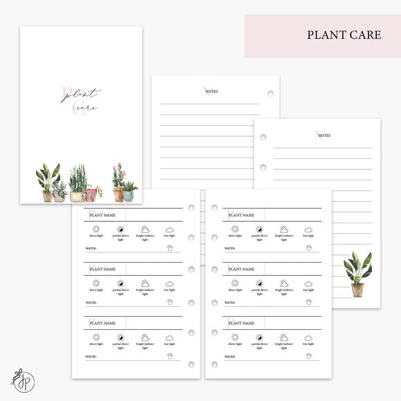 Plant Care Pink - Pocket Rings