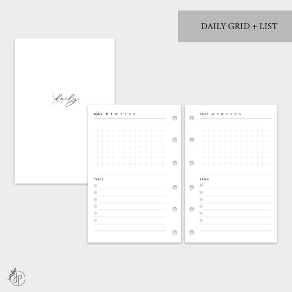 Daily Grid + List - Pocket Rings