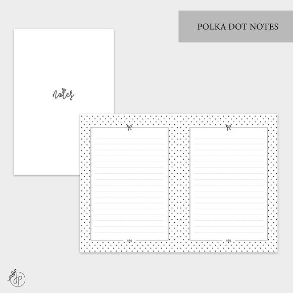 Polka Dot Notes - B6 TN