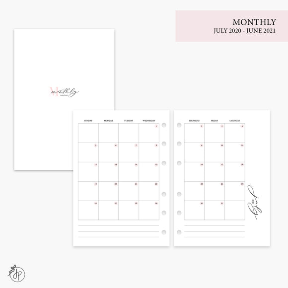 Monthly 20/21 Pink - Personal Wide Rings