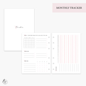 Monthly Tracker Pink - Personal Wide Rings