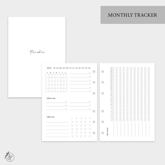 Monthly Tracker - Personal Wide Rings