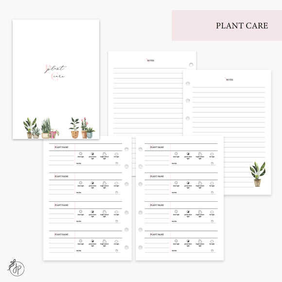 Plant Care Pink - Personal Wide Rings