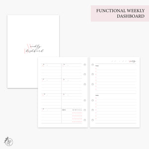 Functional Weekly Dashboard Pink - Personal Wide Rings
