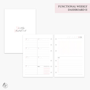 Functional Weekly Dashboard II Pink - Personal Wide Rings