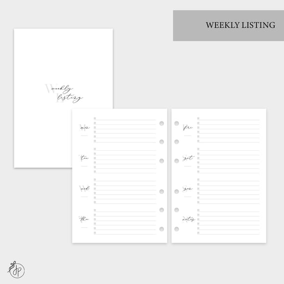 Weekly Listing - Personal Wide Rings