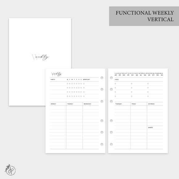 Functional Weekly Vertical - Personal Wide Rings