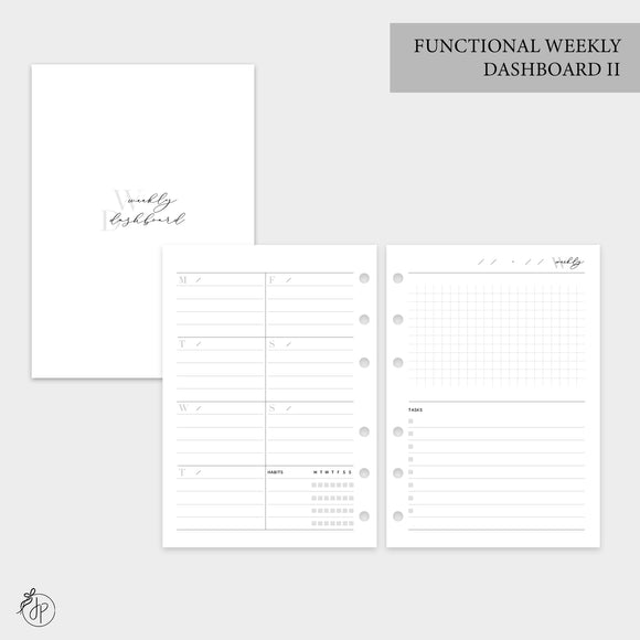 Functional Weekly Dashboard II - Personal Wide Rings