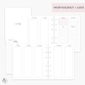 Wo3P Foldout + Lists Pink - Personal Wide Rings