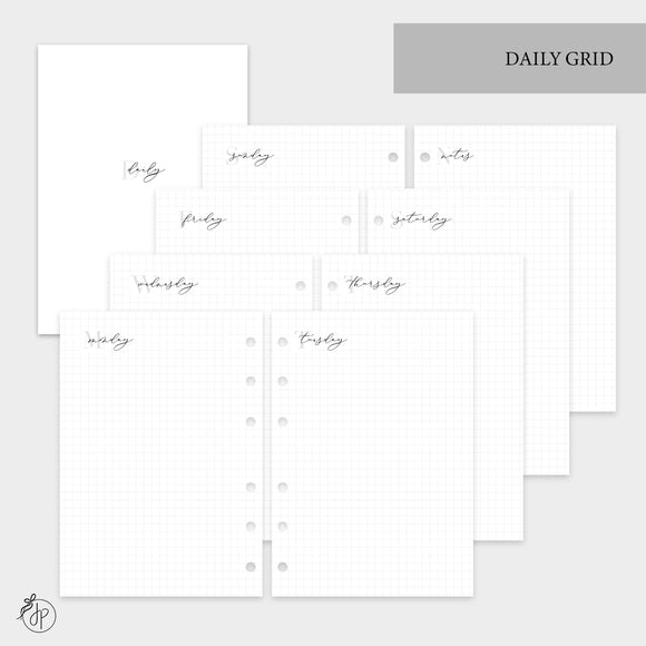 Daily Grid - Personal Wide Rings
