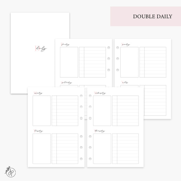 Double Daily Pink - Personal Wide Rings