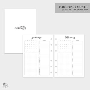 Perpetual + Month 2020 - Personal Wide Rings
