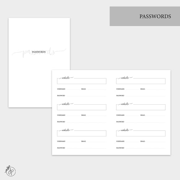Passwords - A6 TN