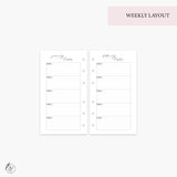 Monthly & Weekly Goals 2020 Pink - Personal Rings