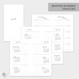 Monthly & Weekly Goals 2021 - Personal TN