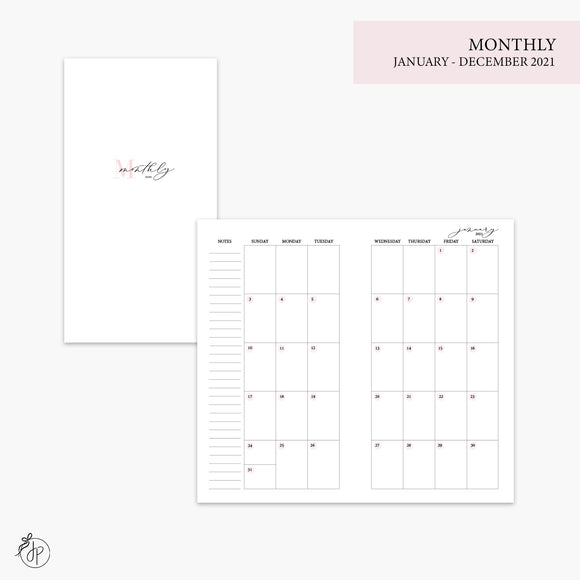 Monthly 2021 Pink - Personal TN