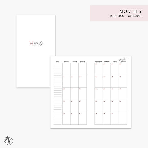 Monthly 20/21 Pink - Personal TN