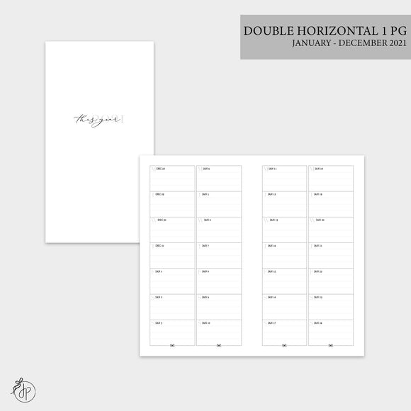 Double Horizontal on 1 Page 2021 - Personal TN
