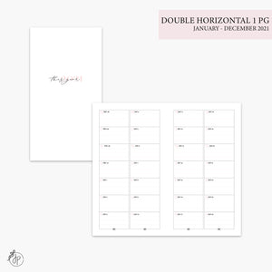 Double Horizontal on 1 Page 2021 Pink - Personal TN