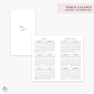 Year at a Glance 2021 Pink - Personal TN