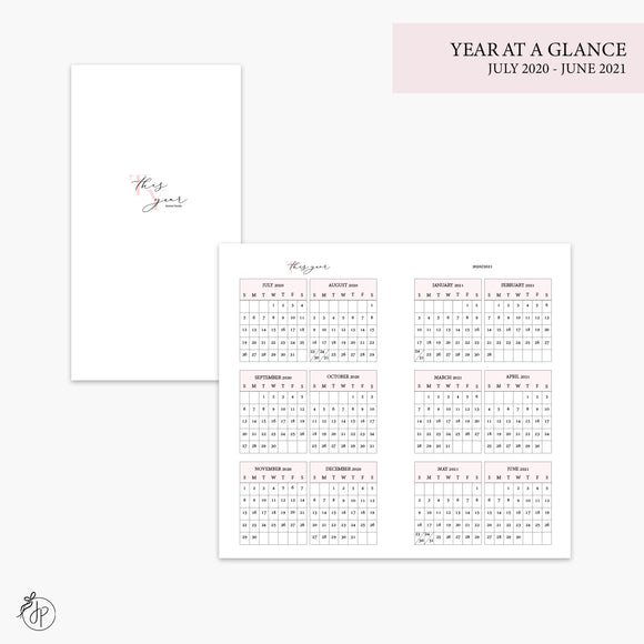 Year at a Glance 20/21 Pink - Personal TN