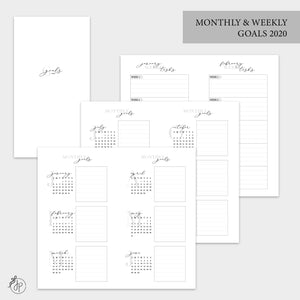 Monthly & Weekly Goals 2020 - Personal TN