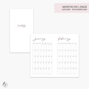 Month on 1 Page 2020 Pink - Personal TN
