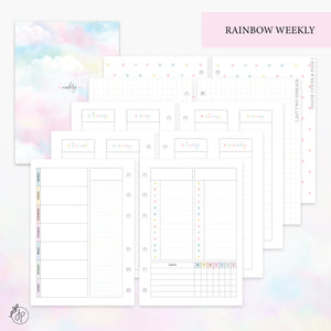 Rainbow Weekly Set - Personal Wide Rings