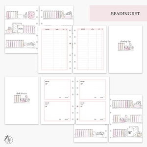 Reading Set Pink - A5 Rings