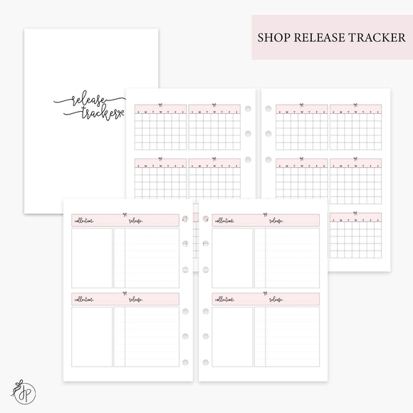 Shop Release Tracker Pink - Personal Wide Rings