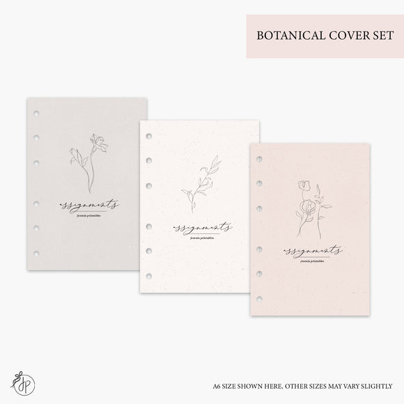 Botanical Covers - Half Letter Rings