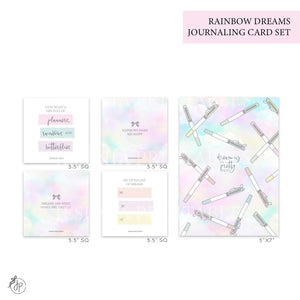 Rainbow Dreams - Journaling Cards