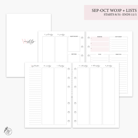 Sep-Oct Wo3P + Lists Pink - A5 Rings
