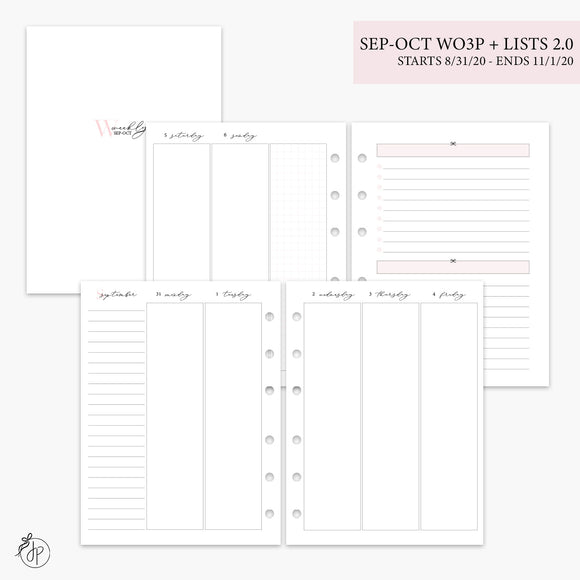 Sep-Oct Wo3P + Lists 2.0 Pink - B6 Rings