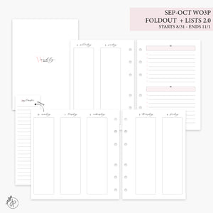 Sep-Oct Wo3P Foldout + Lists 2.0 Pink - Personal Wide Rings