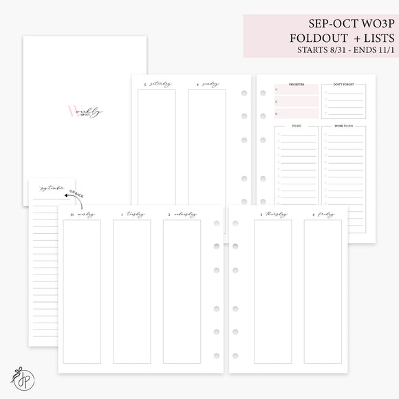 Sep-Oct Wo3P Foldout + Lists Pink - Personal Wide Rings