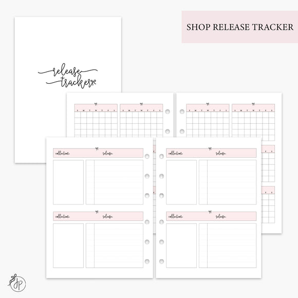 Shop Release Tracker Pink - B6 Rings
