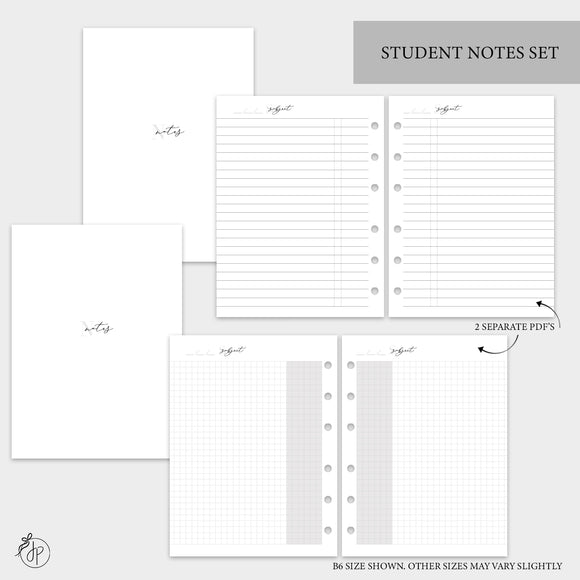 Student Notes Set - A5 Rings