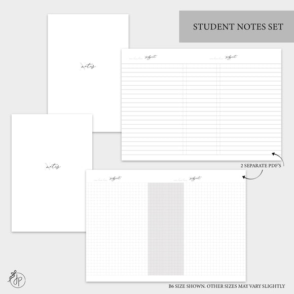 Student Notes Set - Personal TN