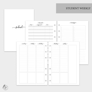 Student Weekly - A5 Rings