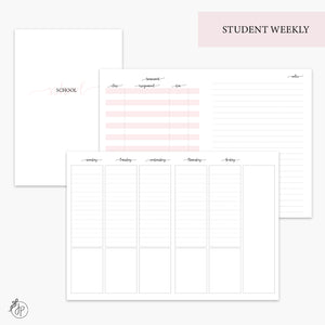 Student Weekly Pink - B6 TN