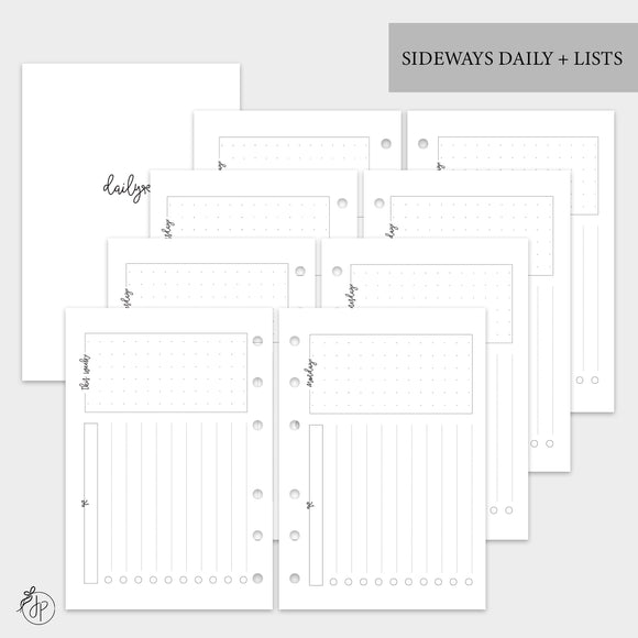 Sideways Daily + Lists - A6 Rings