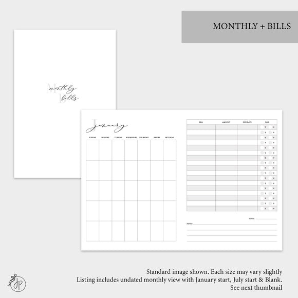 Monthly + Bills - Personal TN