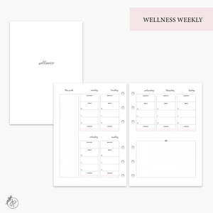 Wellness Weekly Pink - A5 Rings
